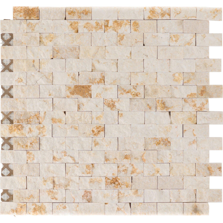 Sonstige Marmormosaikmatte Sunny Beige Brick 32 cm x 32 cm