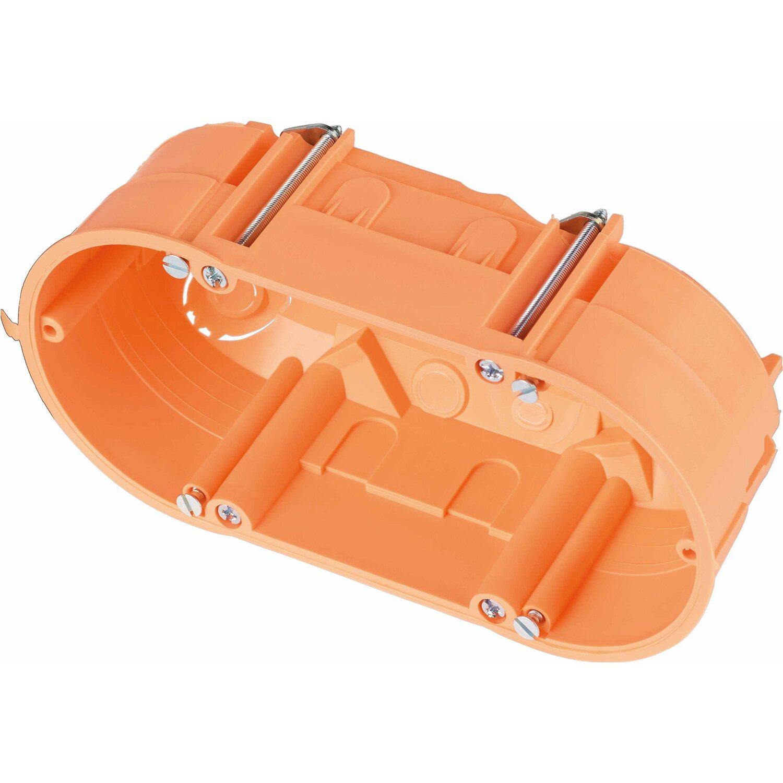 Hohlwanddose 2-fach 135 mm x 65 mm Orange IP30