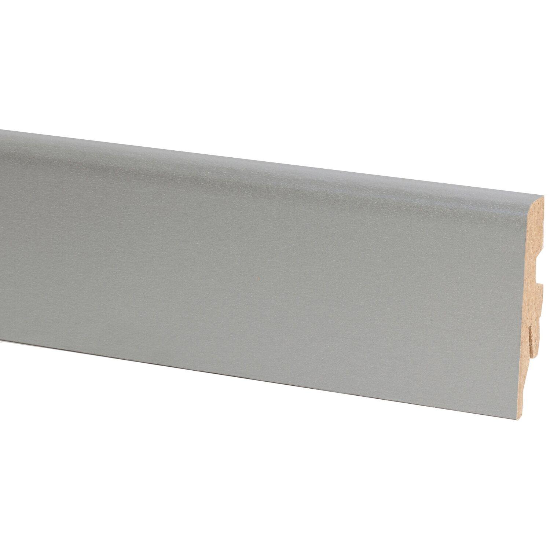 sockelleiste silber 60 mm x 20 mm l nge 2600 mm kaufen bei obi. Black Bedroom Furniture Sets. Home Design Ideas