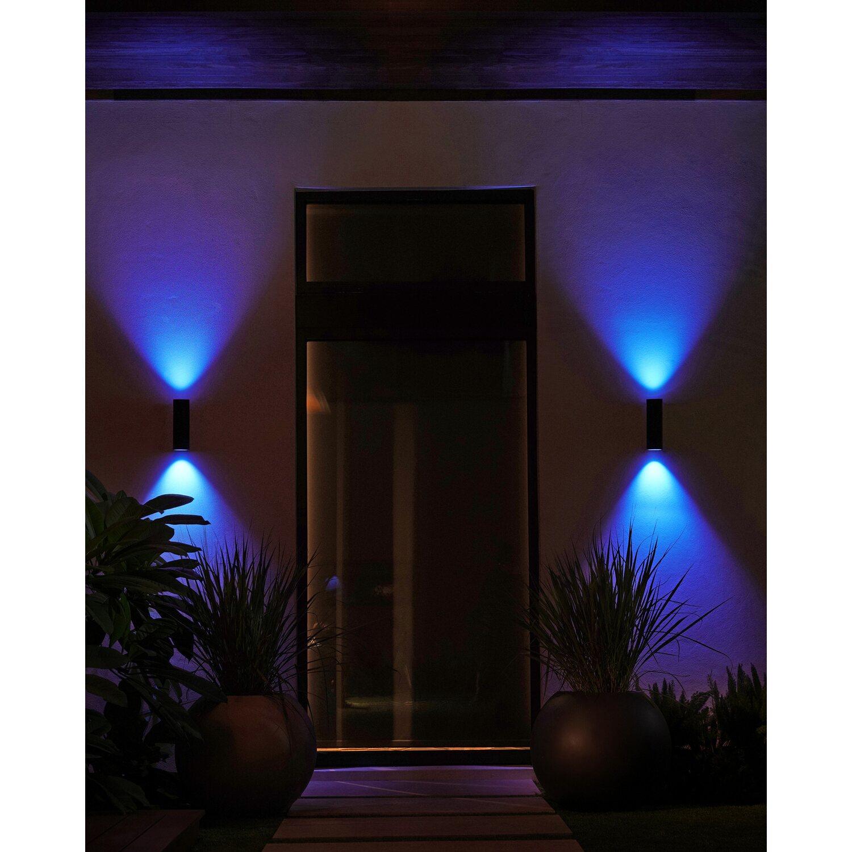 Philips Hue LED-Außenwandleuchte Appear Schwarz EEK: A+ | Lampen > Aussenlampen > Wandleuchten | Philips Hue