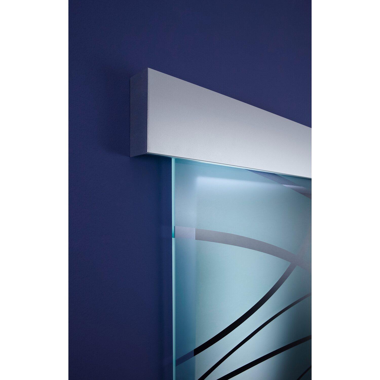 Schiebetür glas satiniert  OBI Glasschiebetür Nevo geschlossenes System Satiniert 90 cm x 205 ...