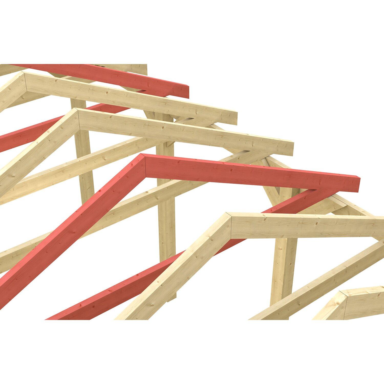 Skan Holz Schneelasterhöhung für Carport Sauerland 380 x 750 cm Nussbaum | Baumarkt > Garagen und Carports | Skan Holz