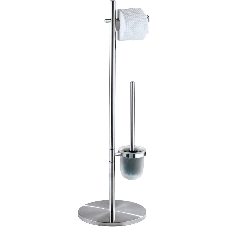 Wenko Stand WC Garnitur Pieno Edelstahl matt rostfrei kaufen bei OBI