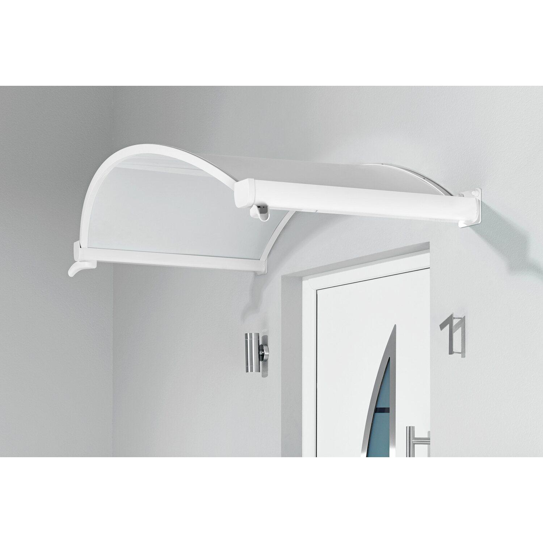 Gutta  Ovalbogenvordach OV/B 160 Weiß 30 cm x 160 cm x 90 cm