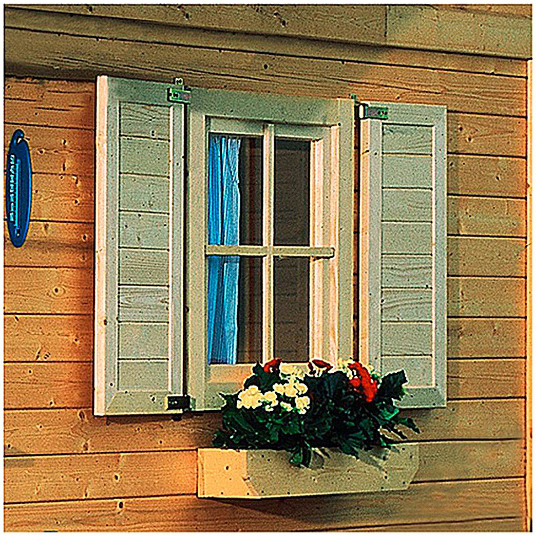 Karibu Fensterladen Naturbelassen