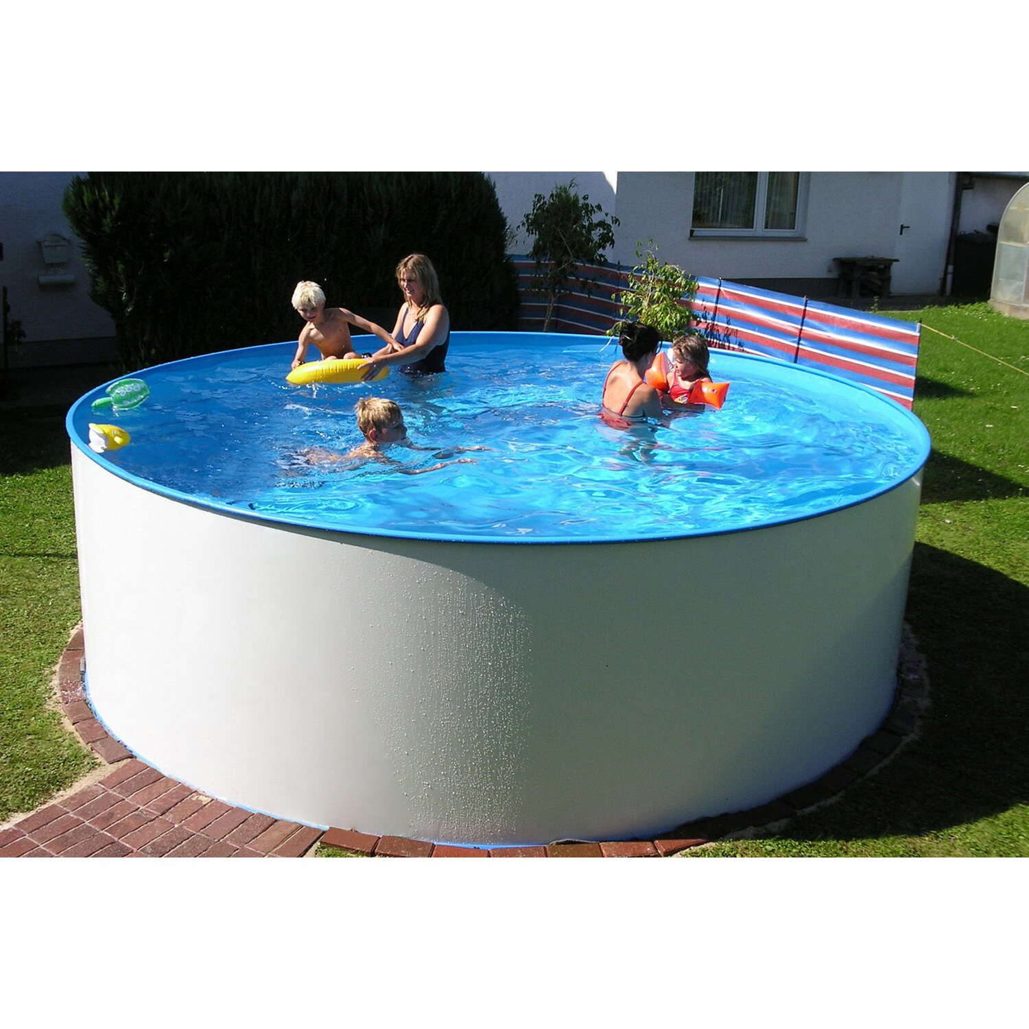 Summer fun stahlwand pool set malediven aufstellbecken for Obi pool set