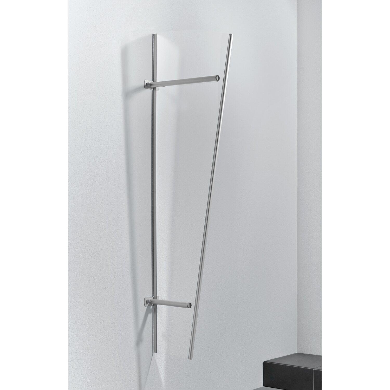 Gutta  Seitenblende PT/G Acryl Edelstahloptik 185 cm x 60 cm x 30 cm