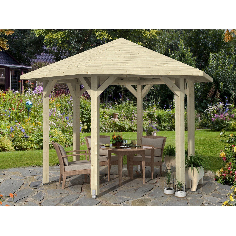 pavillon nancy 2 leimholz 420 cm x 364 cm natur kaufen bei obi. Black Bedroom Furniture Sets. Home Design Ideas