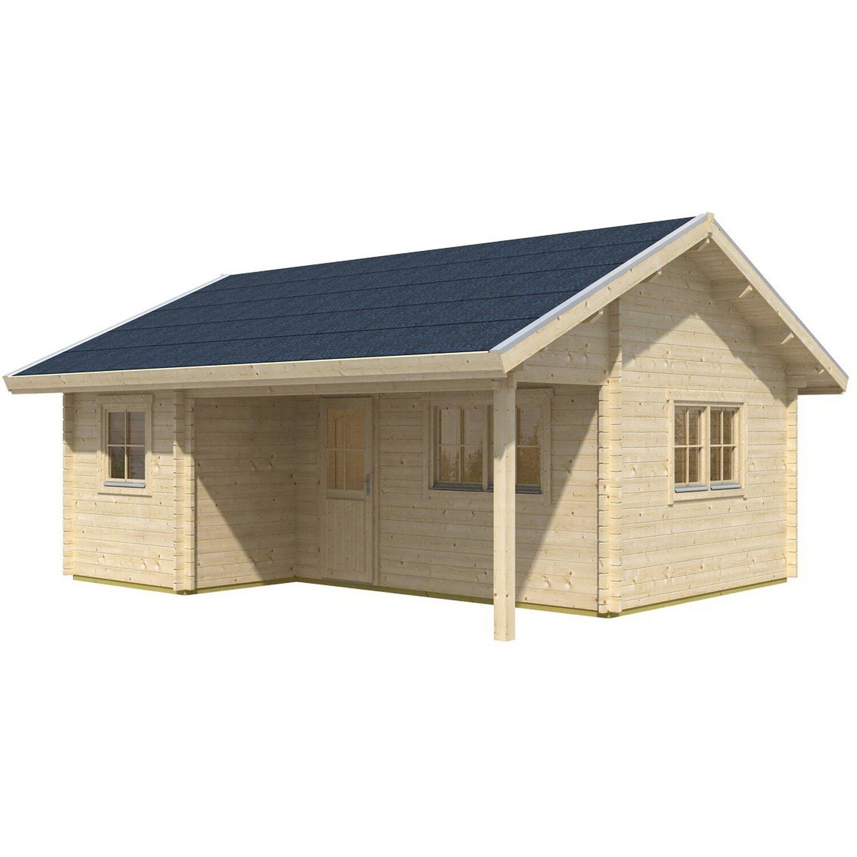 Skanholz Skan Holz-Gartenhaus St. Moritz B x T 600 cm x 500 cm mit Dachlattung