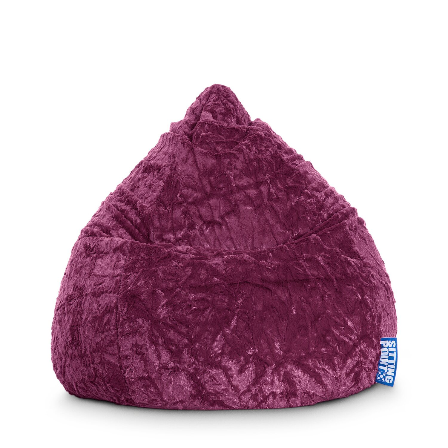 Sitting Point Sitzsack Fluffy 120 l Aubergine