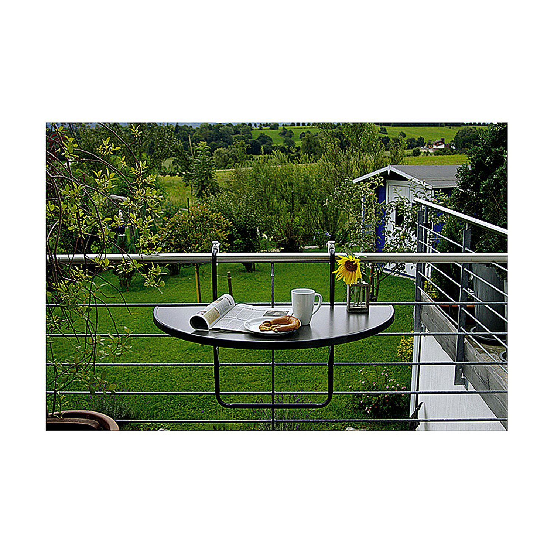 Balkon Hangetisch Halbrund 100 Cm X 50 Cm Anthrazit Kaufen Bei Obi