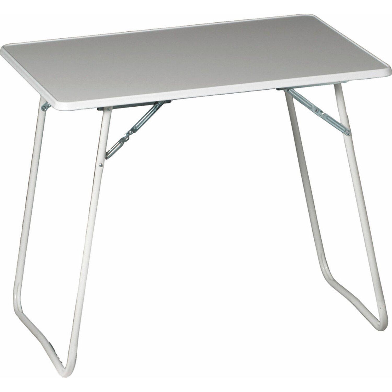 Camping Tisch rechteckig 60 cm x 80 cm Weiß