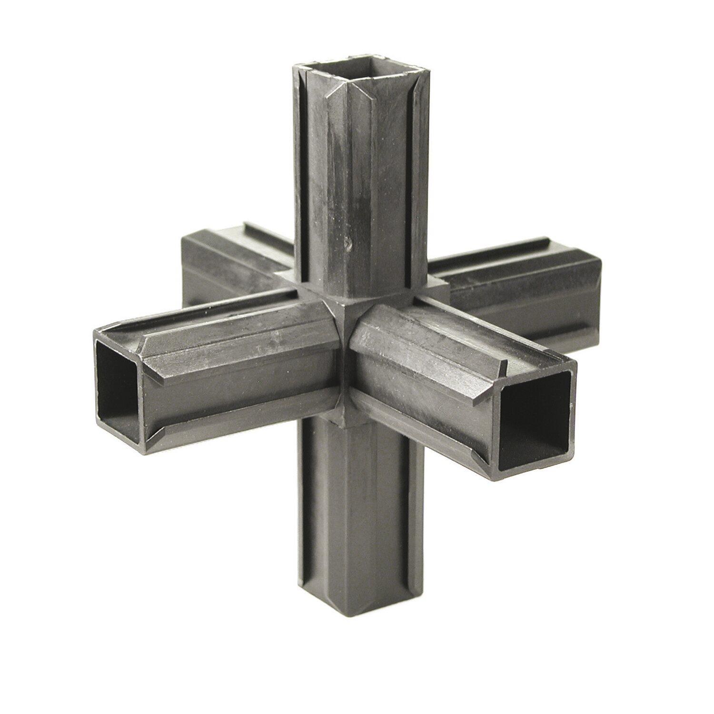 xd rohrverbinder kreuzst ck mit 2 abg ngen schwarz f r 20 mm kaufen bei obi. Black Bedroom Furniture Sets. Home Design Ideas