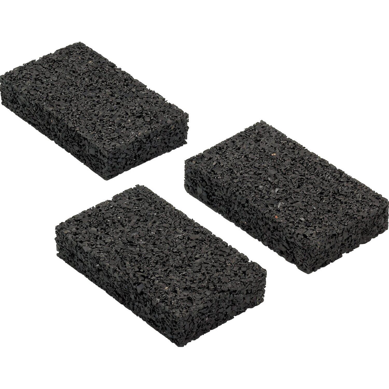Rettenmeier Auflagepads für Unterkonstruktion Schwarz 9 cm x 6 cm x 0,3 cm 60 Stück