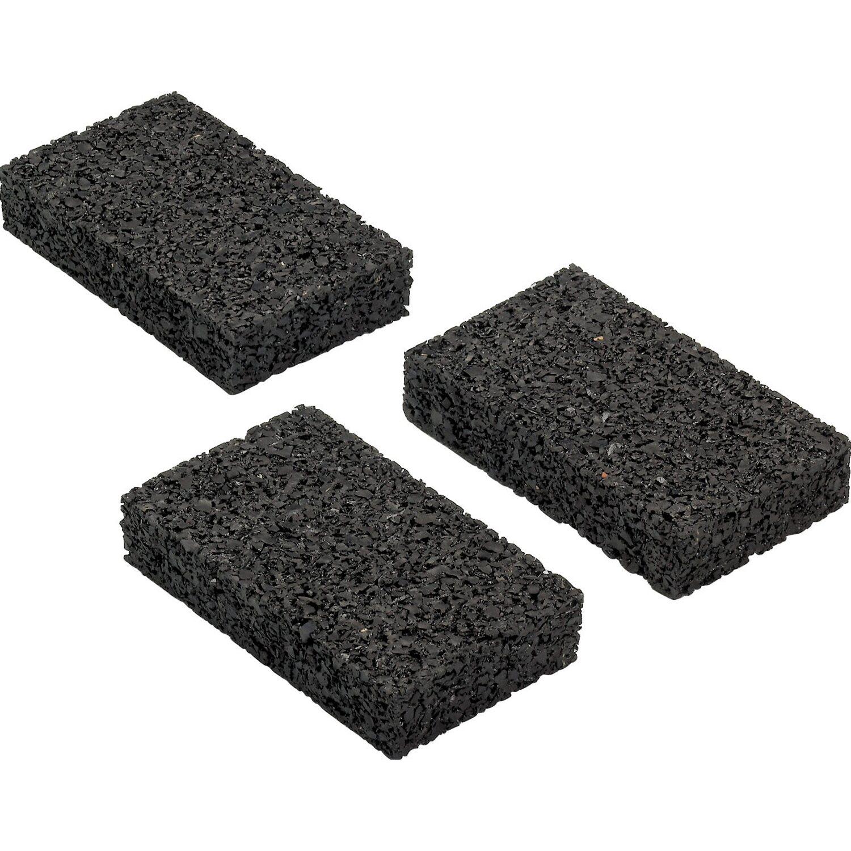Rettenmeier Auflagepads für Unterkonstruktion Schwarz 9 cm x 6 cm x 0,8 cm 48 Stück