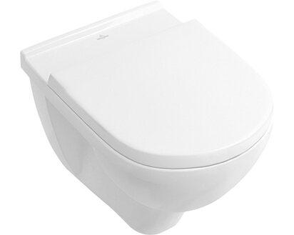 Villeroy & Boch Wand-WC-Set Targa Tiefspüler Weiß spülrandlos