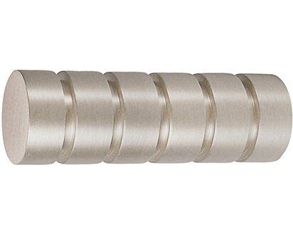 Gardinenstange edelstahloptik 2 läufig Deckenmontage Vorhang Endstück Zylinder