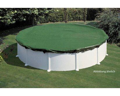 Summer Fun Winter Pool Abdeckung Oval 800cm PVC Grün Schwimmbecken Abdeckplane
