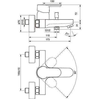 ideal standard ceravito einhebel badearmatur kaufen bei obi. Black Bedroom Furniture Sets. Home Design Ideas