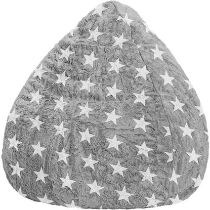Sitzsack Sitting Point Fluffy Stars L 120 l Grau