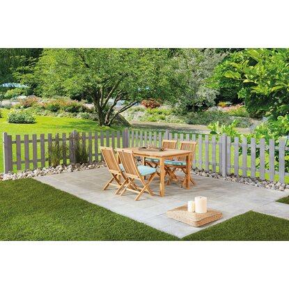 vorgartenzaun f ssen 180 cm x 90 cm basaltgrau kaufen bei obi. Black Bedroom Furniture Sets. Home Design Ideas