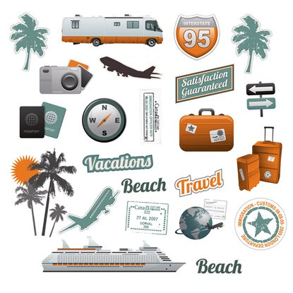 Eurographics Koffersticker Summer Vacations