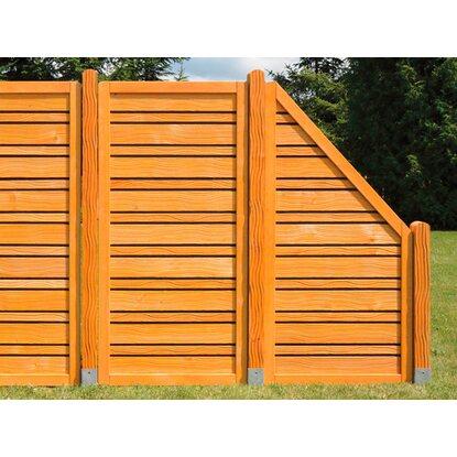 Sichtschutzzaun element salvia honig anthrazit 90 cm x 180 - Zaunelemente obi ...