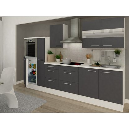 respekta premium k chenzeile rp300hwg 300 cm grau wei kaufen bei obi. Black Bedroom Furniture Sets. Home Design Ideas