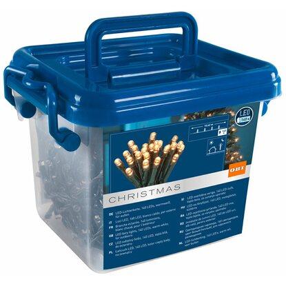 Obi led lichterkette 140 led warmwei in kunststoffbox for Obi led lichterkette