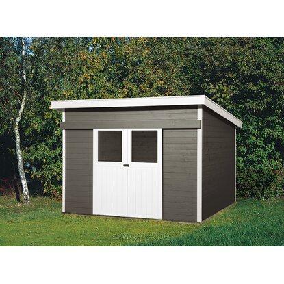 weka holz gartenhaus turin b anthrazit 295 cm x 299 cm kaufen bei obi. Black Bedroom Furniture Sets. Home Design Ideas