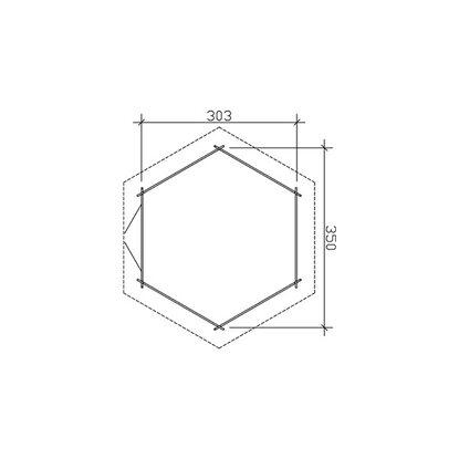 skan holz gartenhaus madeira 2 b x t 350 cm x 303 cm kaufen bei obi. Black Bedroom Furniture Sets. Home Design Ideas