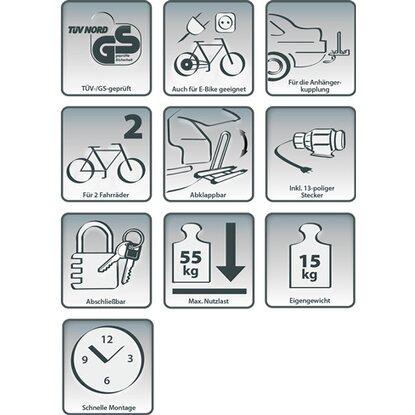 eufab fahrrad kupplungstr ger falcon kaufen bei obi. Black Bedroom Furniture Sets. Home Design Ideas