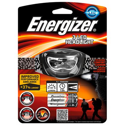 Energizer 3 LED Headlight inkl. Alkaline Batterien