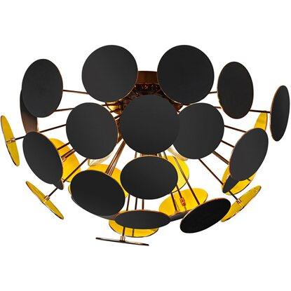 trio deckenleuchte discalgo schwarz gold eek e a kaufen bei obi. Black Bedroom Furniture Sets. Home Design Ideas