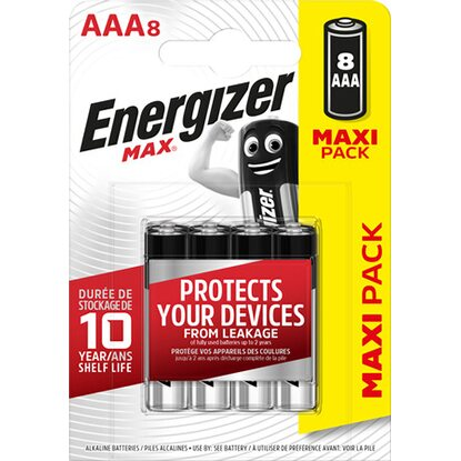 Energizer Max Alkaline AAA Batterie Micro 8er-Pack