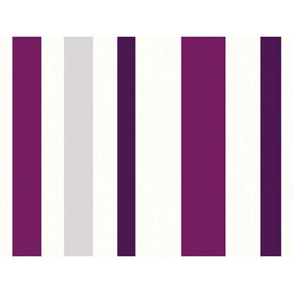 sch ner wohnen kollektion vliestapete streifen violett kaufen bei obi. Black Bedroom Furniture Sets. Home Design Ideas