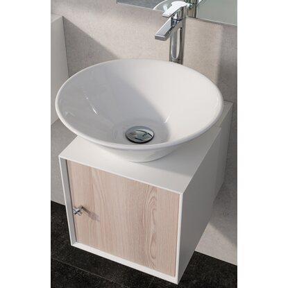 fackelmann aufsatzwaschbecken 42 cm ix wei rund kaufen. Black Bedroom Furniture Sets. Home Design Ideas
