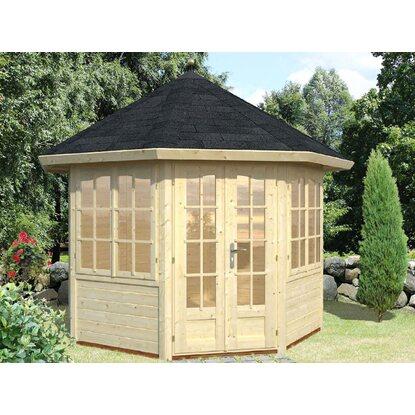 palmako holz pavillon veronica 2 natur unbehandelt 289 cm x 289 cm kaufen bei obi. Black Bedroom Furniture Sets. Home Design Ideas