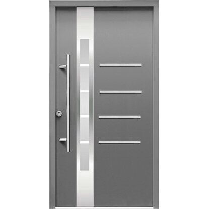 Splendoor Haustür ThermoSpace Berlin RC2 Anthrazit 210 x 100 cm Anschlag Links