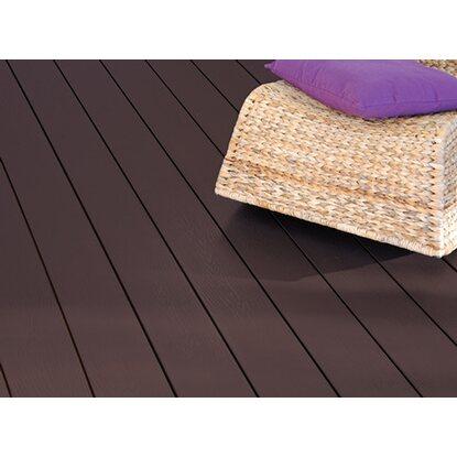 kovalex wpc terrassendiele mit struktur schokobraun 2 cm x 14 5 cm meterware kaufen bei obi. Black Bedroom Furniture Sets. Home Design Ideas
