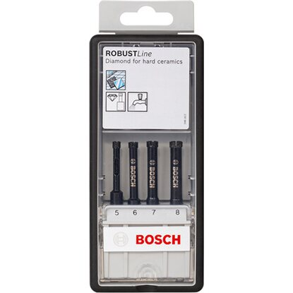 Bosch Diamantnassbohrer Diamond for Hard Ceramics Set 4-tlg. (5,6,7,8mm)