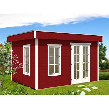 skan holz holz gartenhaus breda schwedenrot b x t 380 cm x 300 cm kaufen bei obi. Black Bedroom Furniture Sets. Home Design Ideas
