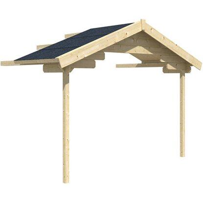 skan holz vordachverl ngerung f r gartenhaus como faro auf 300 x 256 cm kaufen bei obi. Black Bedroom Furniture Sets. Home Design Ideas