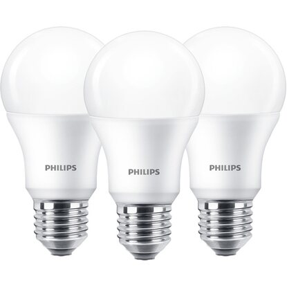 Philips LED-Leuchtmittel Glühlampenform E27/8,5 W (806 lm) Warm 3er-Pack EEK: A+