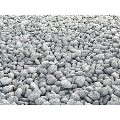 Granitkies gletscher grau 30 mm 60 mm 25 kg sack for Steine baumarkt