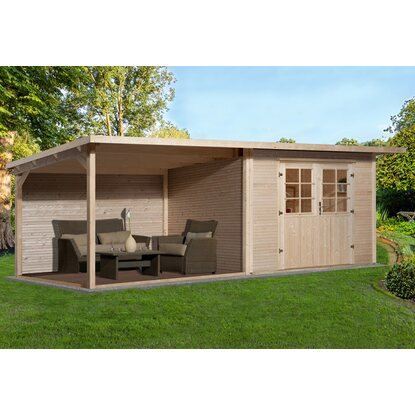 weka holz gartenhaus como bxt 598 cm x 300 cm davon 303 cm terrasse kaufen bei obi. Black Bedroom Furniture Sets. Home Design Ideas