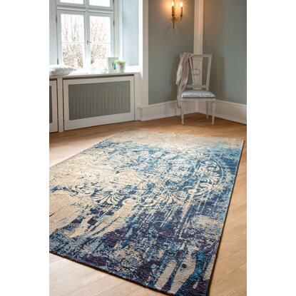 teppich velvet beige blau 160 cm x 235 cm kaufen bei obi. Black Bedroom Furniture Sets. Home Design Ideas