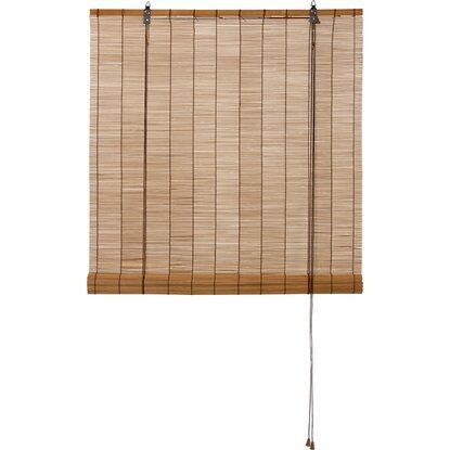 obi bambus raffrollo 120 cm x 160 cm dunkle eiche kaufen bei obi. Black Bedroom Furniture Sets. Home Design Ideas