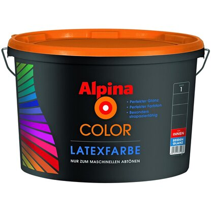 Alpina Color Latexfarbe B1 seidenglänzend 2,5 l