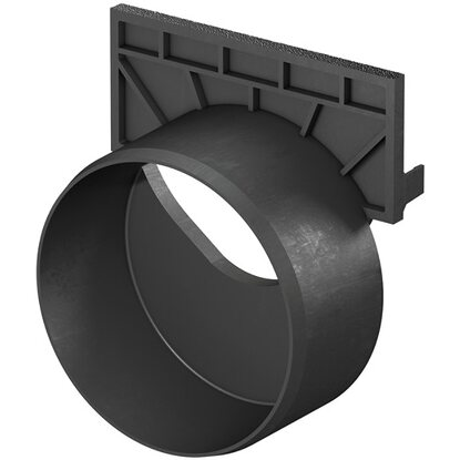stirnwand f r hexaline 2 0 euroline mit stutzen dn 100. Black Bedroom Furniture Sets. Home Design Ideas